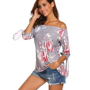 3/4 Sleeve, Off the Shoulder Blouse